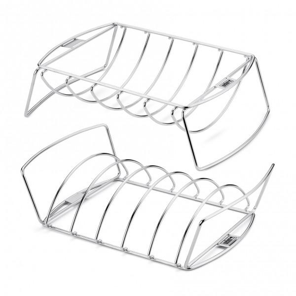 Weber® Spare-Rib-Halter & Bratenkorb